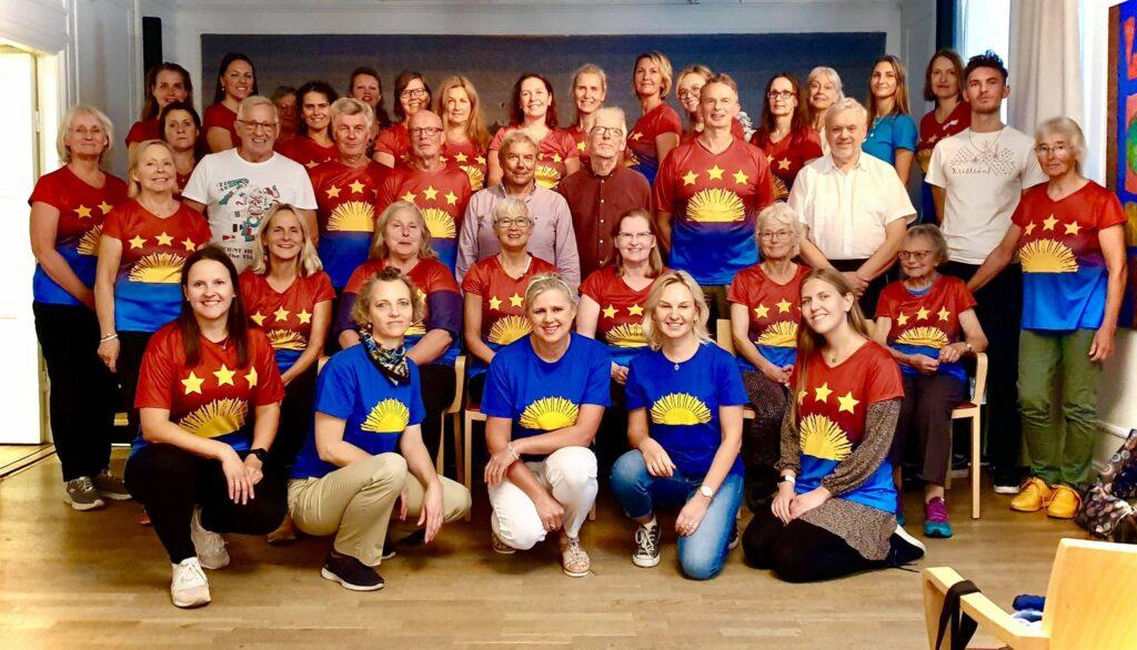 Stokholmas koris 11.-12. septembra meistarklasēs Igauņu namā Stokholmā. Foto: Andrejs Leimanis